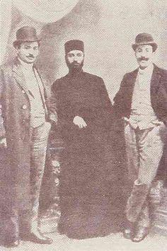 Komitas Vartabed with Melikian and Shamuradian (Chamouradian)