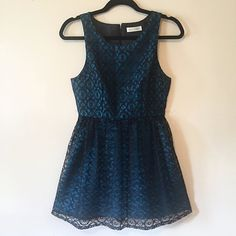 Cocktail Hour - $185.00 Size 2 Royal blue under dress with black lace overlay. Fully lined bodice and back zipper closure. Made from high quality fabrics. This color is AMAZING! 100% upcycled.  #upcycled #vancouverfashion #lace #canadianfashion