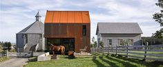 Completed in 2015 in Upper Kingsburg, Canada. Images by James Brittain, William Green. Enough House is the newest addition to architect Brian MacKay-Lyons' Shobac farm in Nova Scotia. Residential Architecture, Contemporary Architecture, Architecture Design, Nova Scotia, Unique Cottages, Building A Cabin, Building Layout, Weathering Steel, Architect Magazine