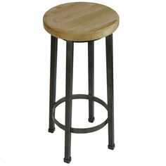 Our Modern Industrial Bar Stool offers timeless style that will fit perfectly into any design plan. It's the ultimate option for a space that is Industrial in design, but also a great choice for work or office related uses. It has a basic elm wood seat and a sturdy metal base that is designed to last.