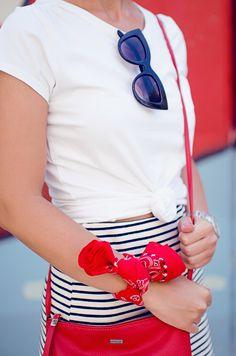 3 maneras de combinar una falda de rayas