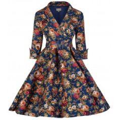 Modest Vintage Apparel / Dainty Jewell's Modest Rose Garden Dress / www.daintyjewells.com #daintyjewells