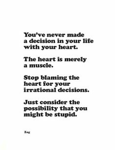 Stop blaming the heart.