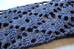 emmy's argyle scarf: open source crocheting