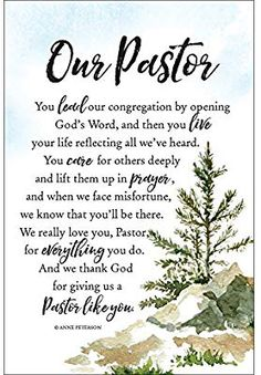 "Amazon.com: Our Pastor Woodland Grace Series 6"" x 9"" Wood Plaque with Easel: Home & Kitchen"