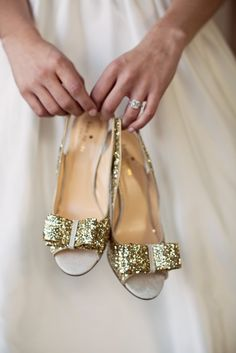 Sparkly Bow-Detail Shoes | Revival Photography https://www.theknot.com/marketplace/revival-photography-newton-nc-496733 | Hickory Museum of Art https://www.theknot.com/marketplace/hickory-museum-of-art-hickory-nc-373425