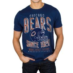 NFL Chicago Bears Junk Food Kick-Off T-Shirt - Navy Blue Football Fashion 069408e03