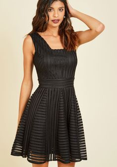 Warm Welcome Home A-Line Dress in Noir, @ModCloth