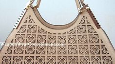 Concealment Purse with Laser Cut Out Pattern and Unique Style in Beige