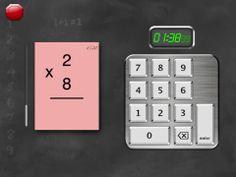 FlashToPass free math flash cards er gratis. Man kan øve de 4 regningsarter(hovedregning) i forskellige sværhedsgrader.