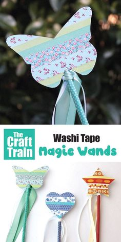 Magic wand craft for kids to inspire imaginary play made from washi tape and paper. These are so simple, quick and fun t Fun Crafts For Kids, Toddler Crafts, Diy For Kids, Activities For Kids, Magic Wand Craft, Magic Crafts, Magic Wands, Christmas Stall Ideas, Fairy Tale Crafts