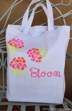 Customizing a tote bag with Elmer's Painters Paint Markers (14)
