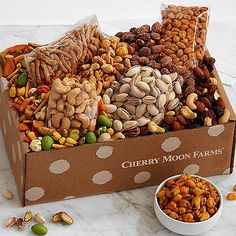 Make reaching for the perfect snack simple with long-time customer favorite, featuring an irresistible collection of nuts and savory treats. Whether they're enjoying a movie night at home or entertaining friends, they'll love the chili lemon corn nuts, cherry berry nut trail mix, roasted salted cashews and more unforgettable finds.