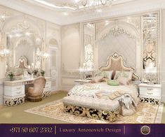 View full picture gallery of Populent Master Bedroom Design Of Katrina Antonovich Modern Luxury Bedroom, Master Bedroom Interior, Luxury Bedroom Design, Luxurious Bedrooms, Home Decor Bedroom, Interior Design Living Room, Dream Rooms, Dream Bedroom, Royal Bedroom