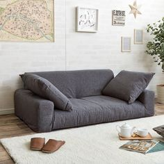 Home Furniture Sofa Small Couch In Bedroom, Bedroom Couch, Bedroom Seating, Small Living Rooms, Living Room Flooring, Living Room Bedroom, Sofa For Living Room, Loft Furniture, Living Room Furniture