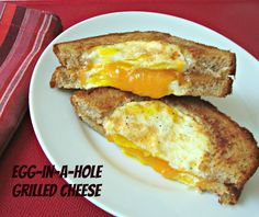 Chocolate, Chocolate and more...: Egg-in-a-Hole Grilled Cheese