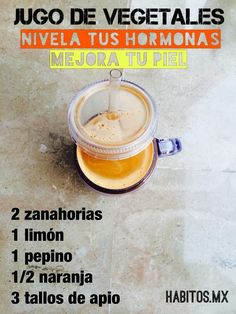 Nivela tus hormonas Healthy Juices, Healthy Smoothies, Healthy Drinks, Healthy Cooking, Healthy Tips, Healthy Recipes, Detox Juice Recipes, Detox Drinks, Hip Hip