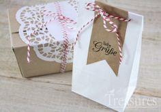 Papiertüten - 25 Papierbeutel mit Boden, weiß - ein Designerstück von smalltreasures bei DaWanda