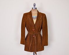 #Vintage #70s Brown #Leather #Jacket Brown #Suede Jacket Belt #Belted Trench #Coat #Blazer 70s Jacket #Hippie Jacket #Hippy Jacket #Boho Jacket Women M #LeatherJacket #TrenchCoat #Etsy #EtsyVintage #TrashyVintage @Etsy $58.00