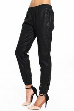 Leather Track Pants - $48