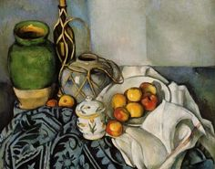 Paul Cezanne: Still life with apples.