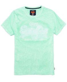 ba8c7615 Superdry Men's Vintage Embossed Logo T-Shirt - Green XXL Superdry Fashion, Superdry  Mens