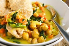 Vegan Coconut Curried Chickpea Soup