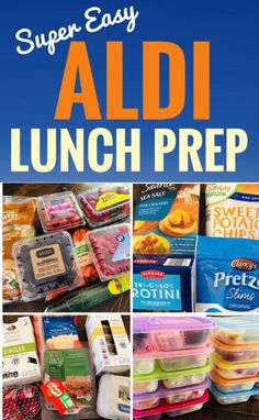 Quick and Easy Aldi Lunch Prep that will save you time and money! # Quick and Easy Aldi Lunch Prep that will save you time and money! Aldi Recipes, Lunch Recipes, Gourmet Recipes, Healthy Recipes, Recipies, Detox Recipes, Dinner Recipes, Budget Recipes, Party Recipes