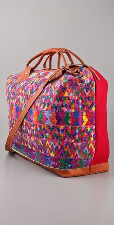 Stela 9 Textile & Leather Overnight Bag