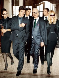 David Gandy & ZsaZsa Bellagio--- I don't know who this Bellagio guy is... but David is owning this situation and pic!! ;)