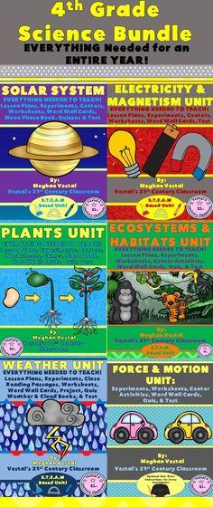 4th Grade Science Bundle- ENTIRE YEAR