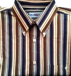 Windsor Lake Multi-Color Stripe BD Fashion Shirt- Size L