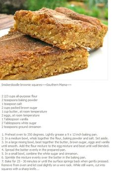 Snickerdoodle Brownie Squares