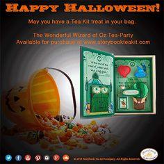 Happy Halloween!  Will you be dressing up from Wizard of OZ? #HappyHalloween #Halloween #TrickorTreating #Costumes #WizardofOZ #TeaKit #Cookies #TeaParties