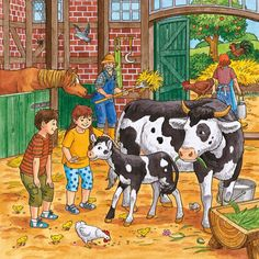 Typically there are stories that accompany each illustration. Writing Pictures, Picture Writing Prompts, Picture Prompt, Where Are The Children, Farm Lessons, Picture Composition, Hidden Pictures, Picture Story, Country Scenes