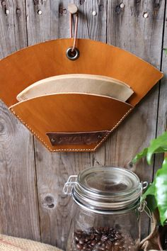 Leather coffee filter sleeve