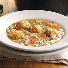 Chicken and Dumplings | CookingLight.com #myplate #protein #veggies