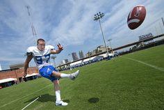 Slideshow: Fall Sports Return to Practice — Georgia State University  Placekicker Matt Ehasz.