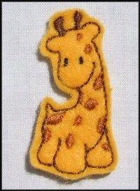 Felt Giraffe Applique Embroidery designs