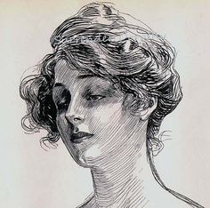 Charles Dana Gibson Feminine Study 1906 Gibson Girl by SurrenderDorothy, $19.89