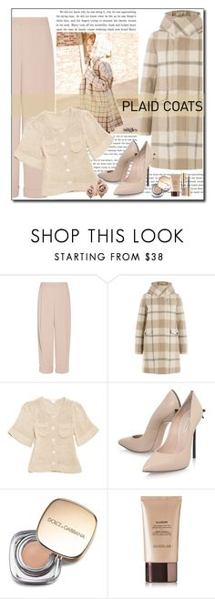 """""""Plaid"""" by polybaby ❤ liked on Polyvore featuring Emporio Armani, Woolrich, Lutz & Patmos, Casadei, Dolce&Gabbana, Hourglass Cosmetics, Yves Saint Laurent and plaidcoats"""
