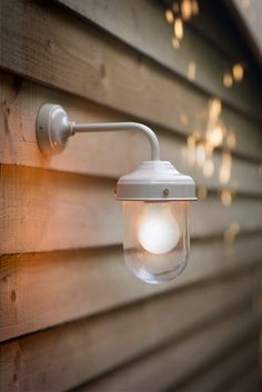 Clay Barn Light is a stylish, durable outdoor garden wall light, ideal for a porch, garage or shed.