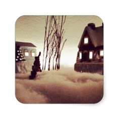 Winter Time Fog (Christmas Time) Stickers