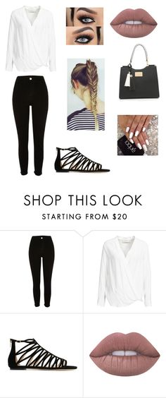 """Work"" by imgonz ❤ liked on Polyvore featuring River Island, By Malene Birger, Jimmy Choo and Lime Crime"