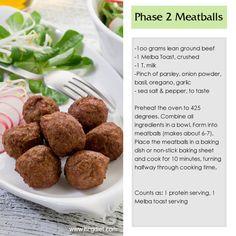 HCG Phase 2 Meatballs