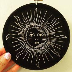 """Cousu à la main « Soleil » 6 """"Art de cerceau de broderie"""