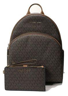 3b119f46ab16 MICHAEL Michael Kors Abbey Large Backpack bundled with Michael Kors Jet Set  Travel Double Zip Wallet Wristlet Kors handbag. Urbanite Carry Backpacks