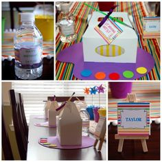 Photo 1 of 21: Art Themed Party / Birthday Picasso Art Party | Catch My Party