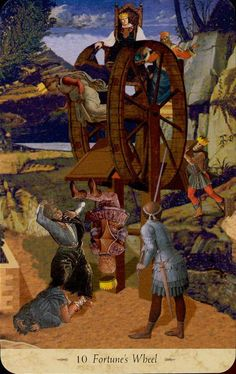 10. LA RUOTA DELLA FORTUNA the_wheel_of_fortune.jpg (450×714) - The Grail Tarot: A Templar Vision - by John Matthews and Giovanni Caselli