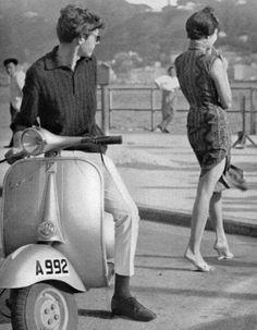 """[港式優雅] When Vespa meets cheongsam / """"La Dolce Vita"""" in Tsim Sha Tsui / a date in Hong Kong before the """"Roman. Piaggio Vespa, Lambretta Scooter, Vespa Scooters, Vespa Girl, Scooter Girl, Triumph Motorcycles, Ducati, Mopar, Motocross"""
